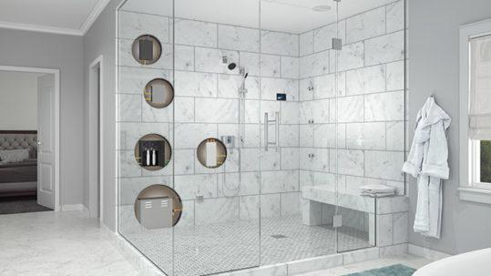 Steam Shower Cutaway