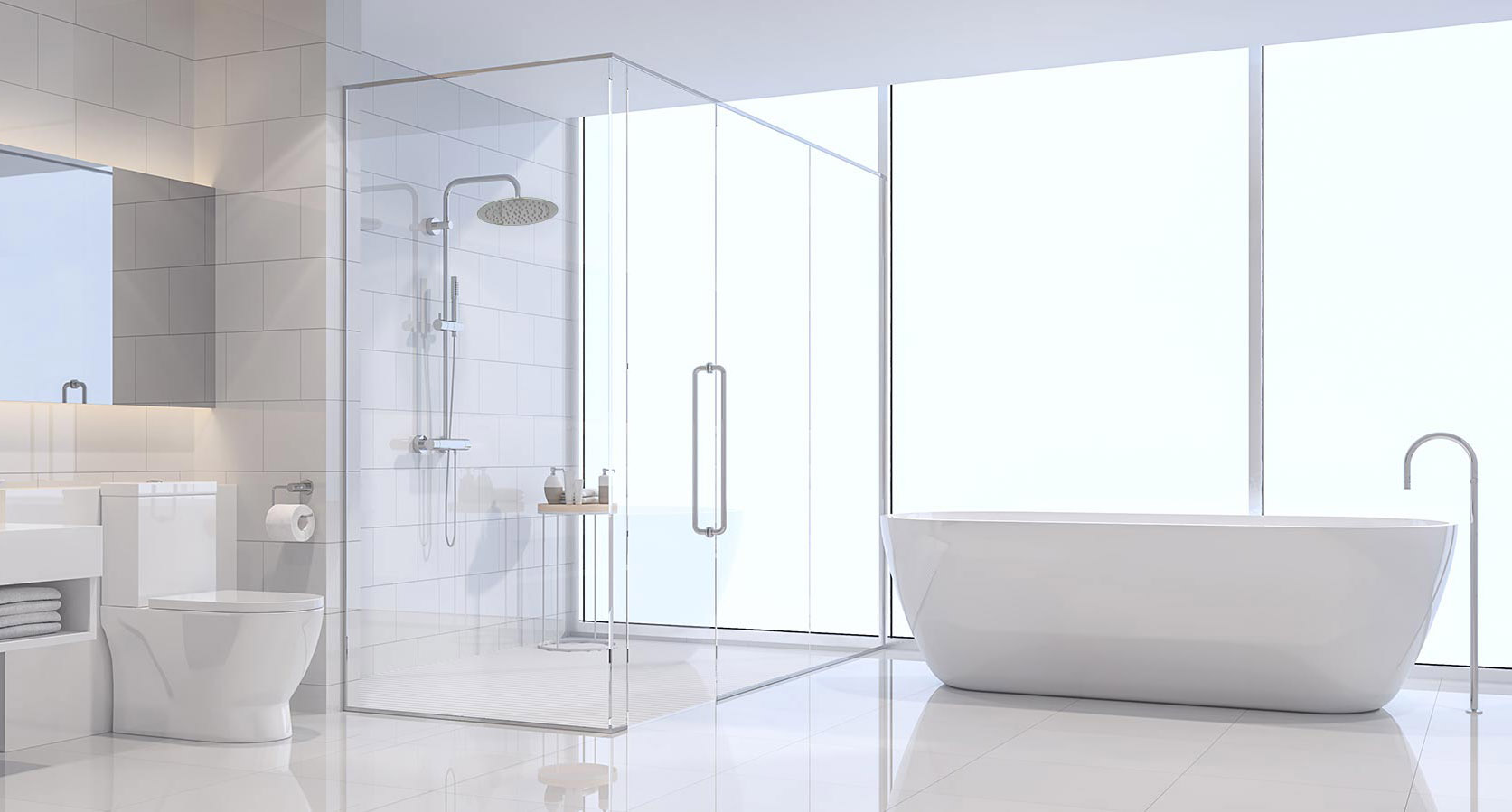 background with shower head